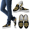 Peace Sign Gold Mandala Women Canvas Slip On Shoes