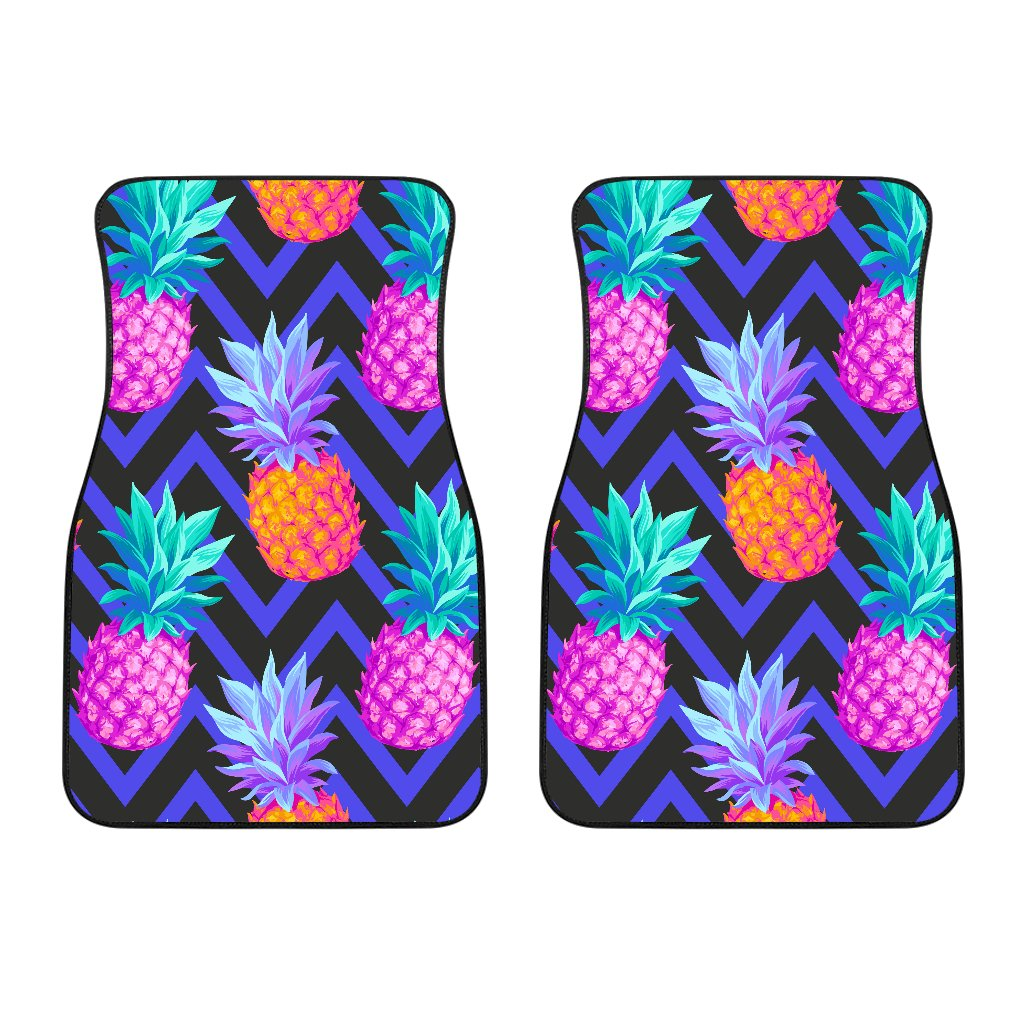 Pineapple Color Art Pattern Car Floor Mats