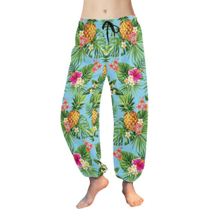 Pineapple Hawaiian flower Tropical Harem Pants
