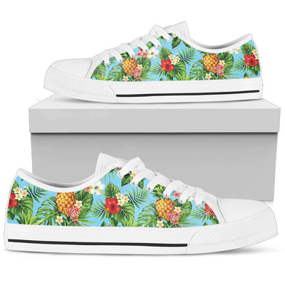 Pineapple Hawaiian flower Tropical Men Low Top Shoes