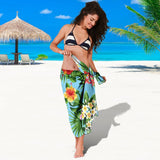 Pineapple Hawaiian flower Tropical Beach Sarong Pareo Wrap