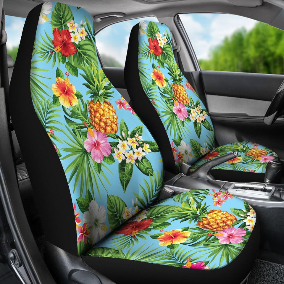 Pineapple hawaiian flower tropical universal fit car seat covers pineapple hawaiian flower tropical universal fit car seat covers izmirmasajfo