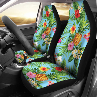 Pineapple Hawaiian flower Tropical Universal Fit Car Seat Covers