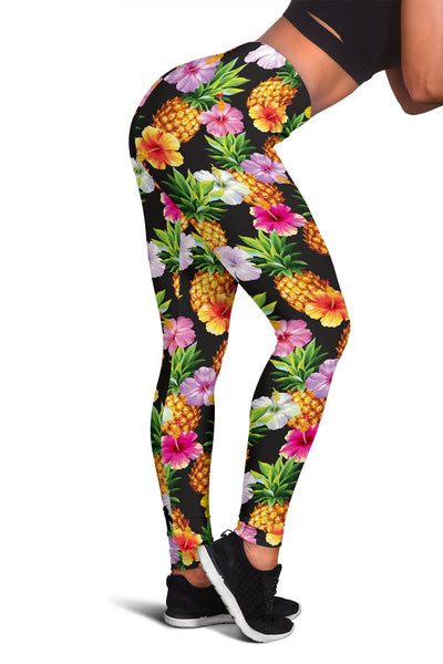 Pineapple Hibiscus Women Leggings