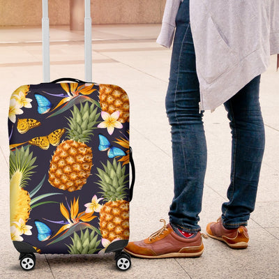 Pineapple Butterfly Plumeria Tropical Luggage Protective Cover