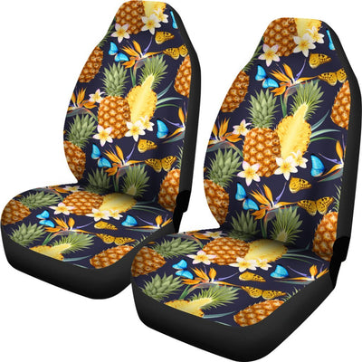 Pineapple Butterfly plumeria Tropical Universal Fit Car Seat Covers