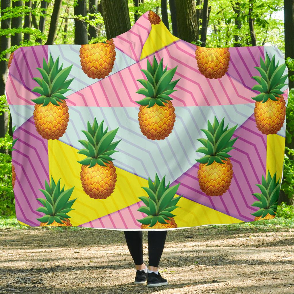 Pineapple Pattern Print Design PP05 Hooded Blanket-JORJUNE.COM