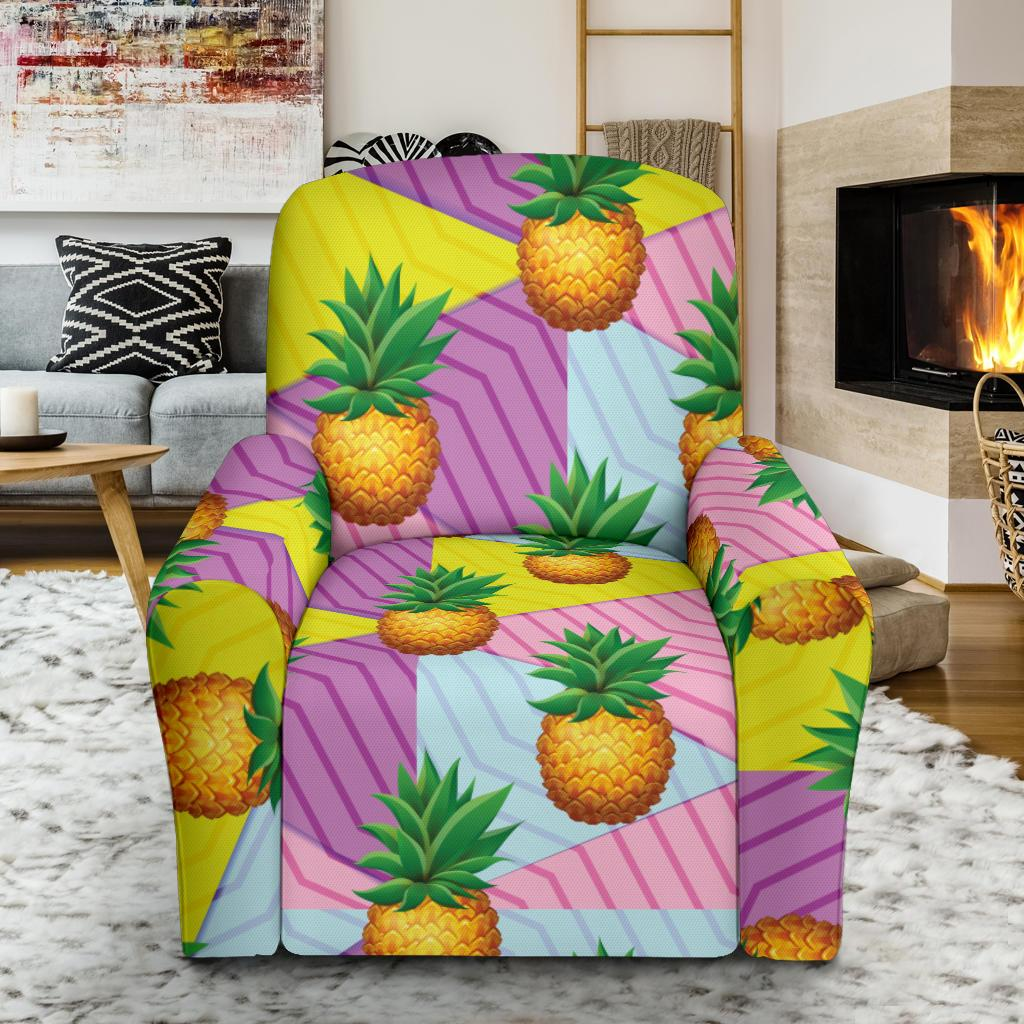 Pineapple Pattern Print Design PP05 Recliner Slipcover-JORJUNE.COM