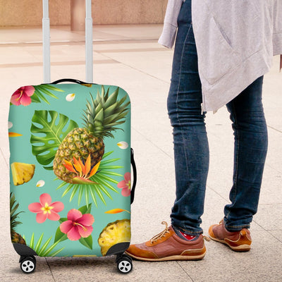 Hibiscus Pineapple Hawaiian Tropical Luggage Protective Cover