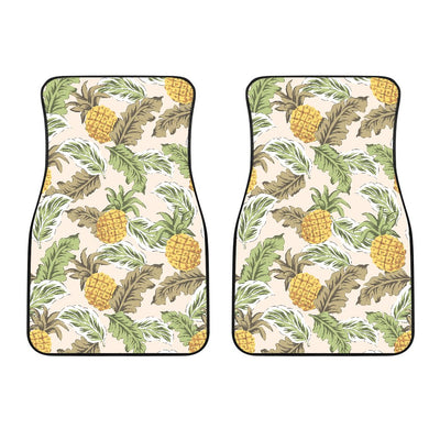 Pineapple Vintage Tropical leaves Car Floor Mats