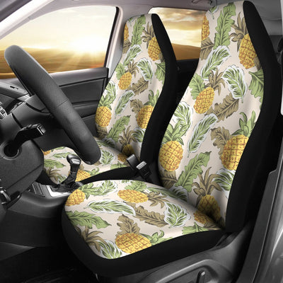 Pineapple Vintage Tropical leaves Universal Fit Car Seat Covers