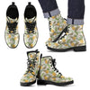 Pineapple Vintage Tropical Leaves Women & Men Leather Boots