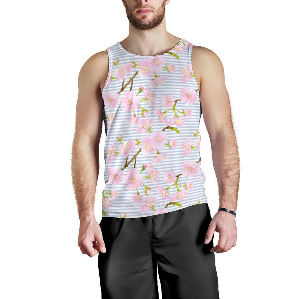 Pink Cherry Blossom Sakura Men Tank Top