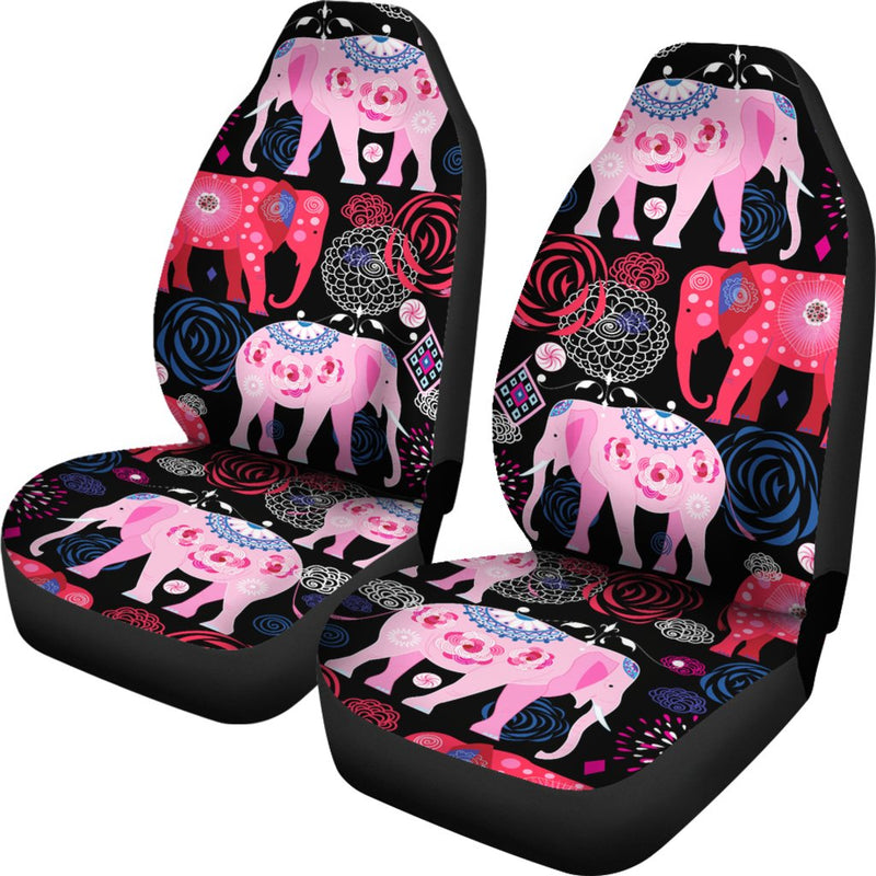 Pink Elephant Pattern Universal Fit Car Seat Covers