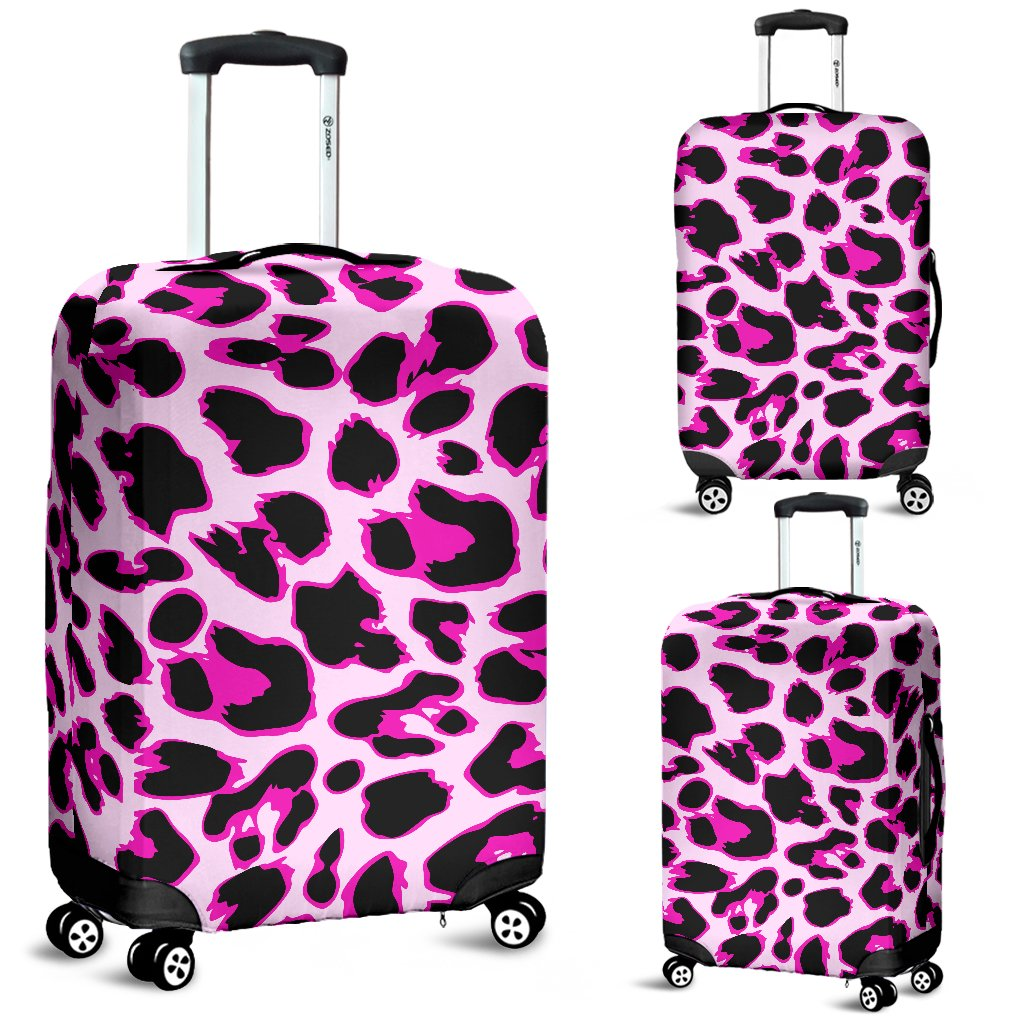 Pink Leopard Print Luggage Cover Protector
