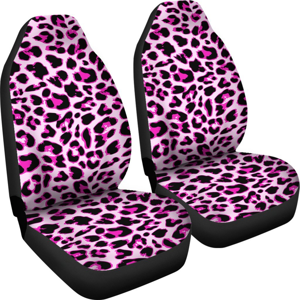 Pink Leopard Print Universal Fit Car Seat Covers