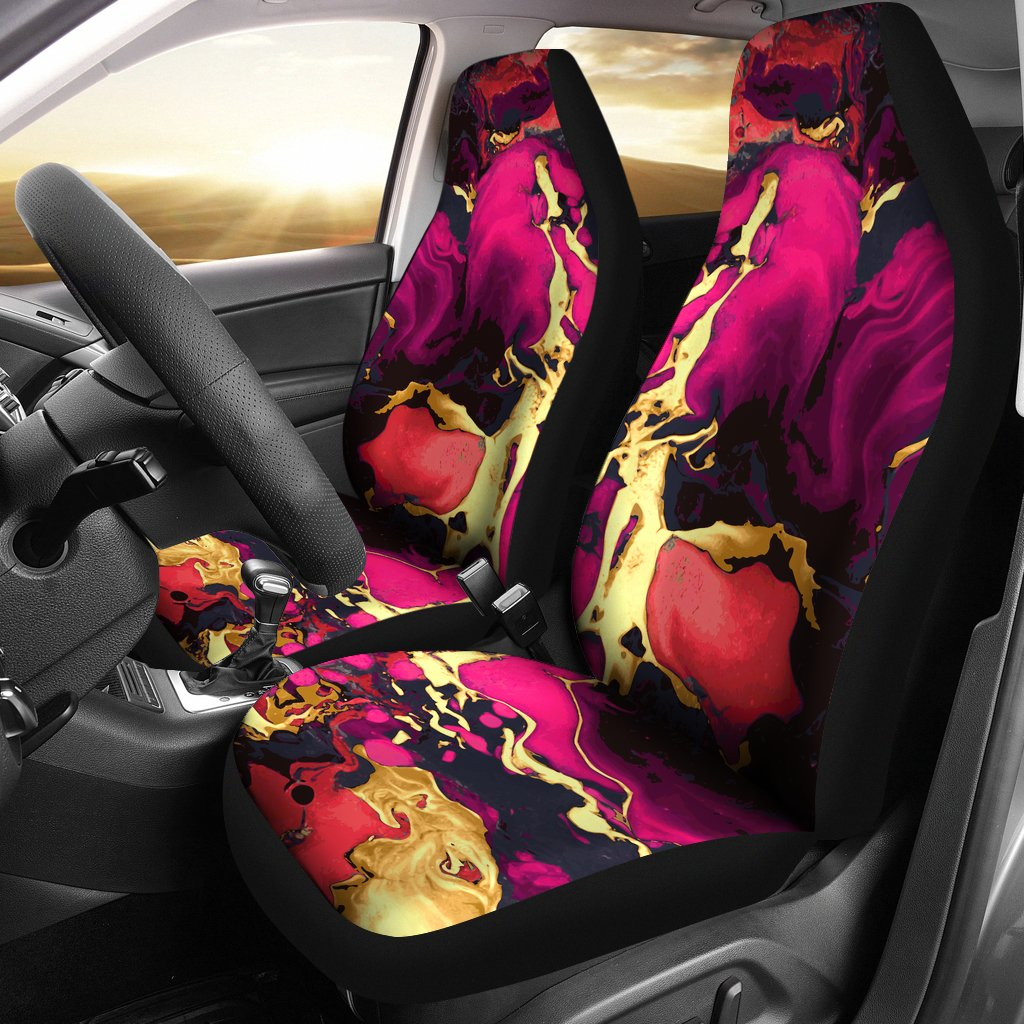 Pink Marble Universal Fit Car Seat Covers
