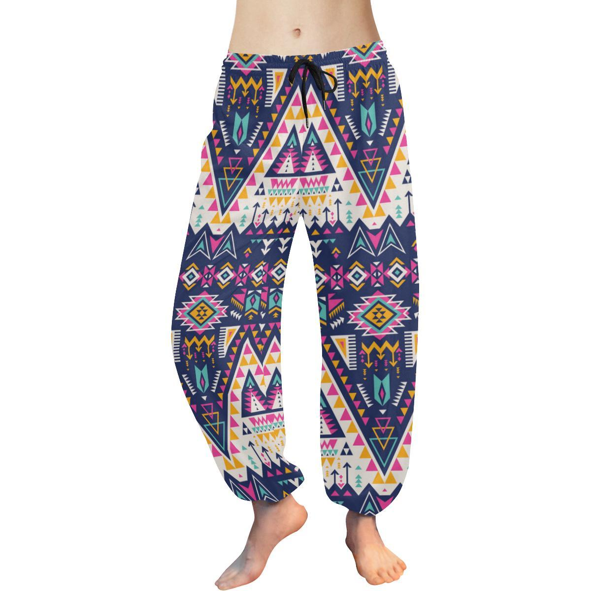 Pink Tribal Aztec native american Harem Pants