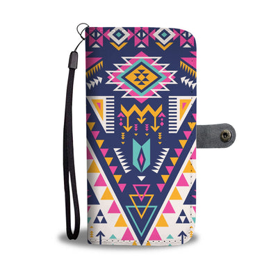 Pink Tribal Aztec native american Wallet Phone case
