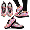 Pink Tropical Palm Leaves Women Sneakers
