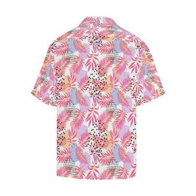 Pink Tropical Palm Men Hawaiian Shirt