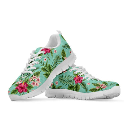 Plumeria and Hibiscus Hawaiian flower Women Sneakers