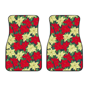 Poinsettia Pattern Print Design POT06 Car Floor Mats-JORJUNE.COM