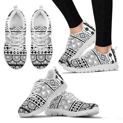 Polynesian Hawaiian Line Tribal Women Sneakers