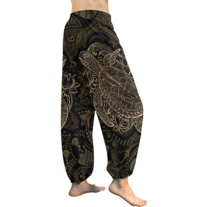 Polynesian Sea Turtle Hawaiian Mandala Harem Pants