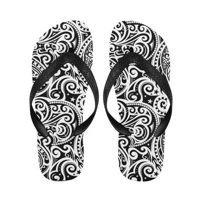 Polynesian Traditional Tribal Flip Flops-JorJune