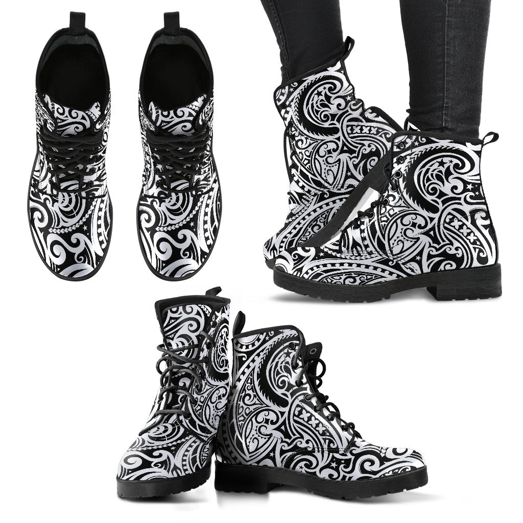 Polynesian Traditional Tribal Women Leather Boots