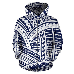 Polynesian Hawaiian Tribal All Over Zip Up Hoodie