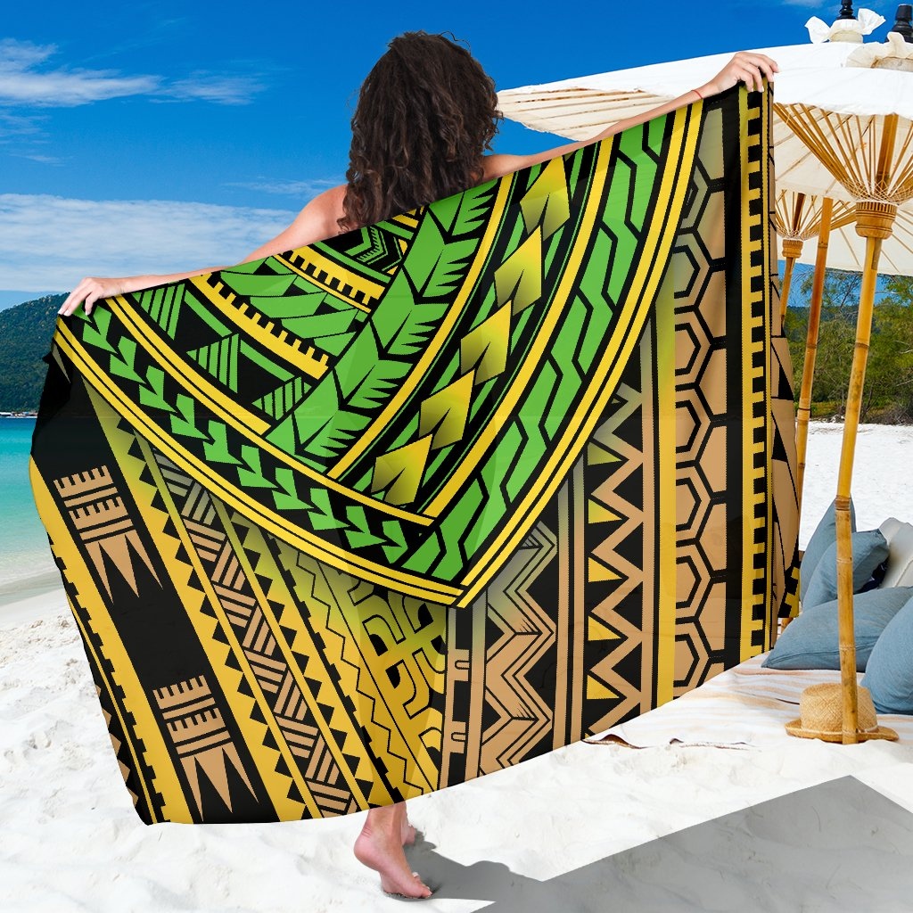 Polynesian Tribal Color Sarong Pareo Wrap