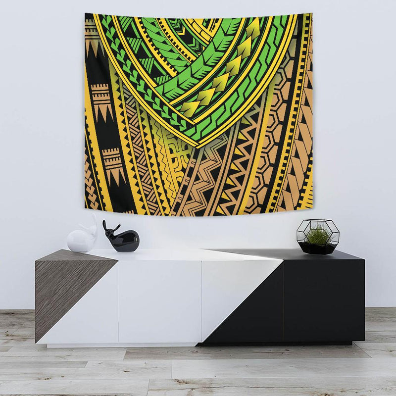Polynesian Tribal Color Tapestry