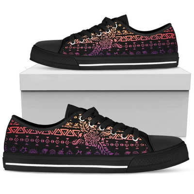 Polynesian Tribal Hawaiian Women Low Top Canvas Shoes