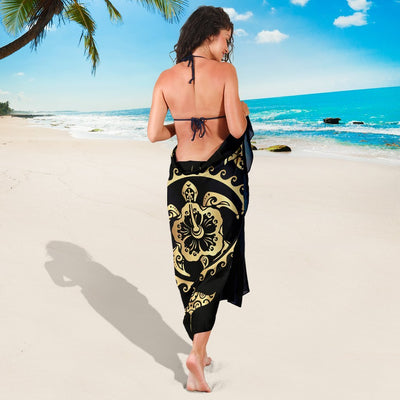 Polynesian Tribal Sea Turtle Hawaiian Beach Sarong Pareo Wrap
