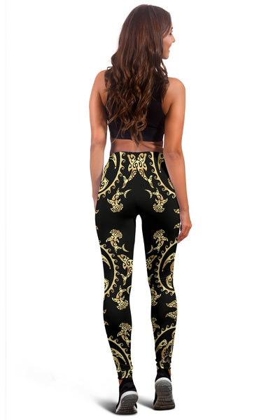 Polynesian Tribal Sea Turtle Hawaiian Women Leggings