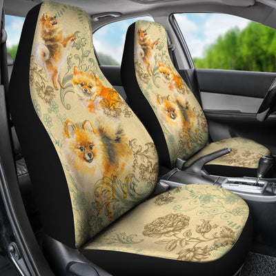 Pomeranian Universal Fit Car Seat Covers