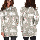 Rabbit Pattern Print Design RB03 Women Hoodie Dress