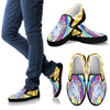 Rainbow Unicorn Men Canvas Slip On Shoes