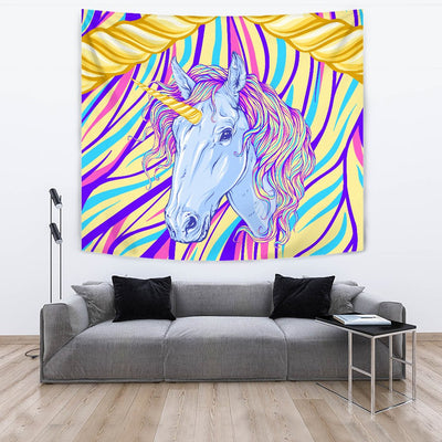 Rainbow Unicorn Wall Tapestry
