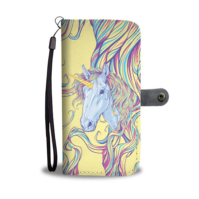 Rainbow Unicorn Wallet Phone Case