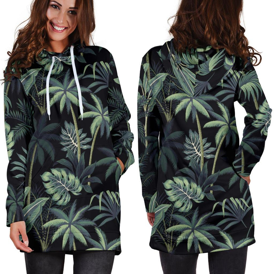 Rainforest Pattern Print Design RF02 Women Hoodie Dress