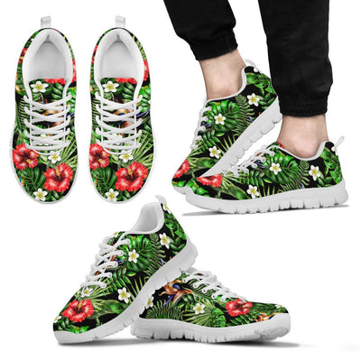 Hawaiian flower red Hibiscus tropical Men Sneakers