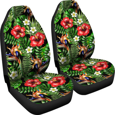 Hawaiian flower red Hibiscus tropical Universal Fit Car Seat Covers