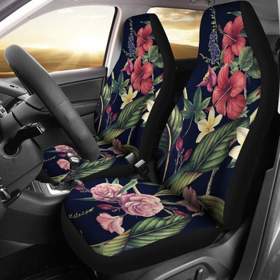 Red Hibiscus Hawaiian tropical flower Universal Fit Car Seat Covers