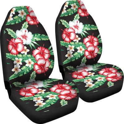 Hawaiian flower tropical leaves Universal Fit Car Seat Covers