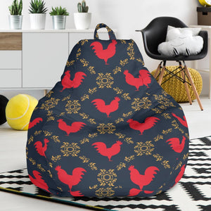 Rooster Pattern Print Design A02 Bean Bag Chair-JORJUNE.COM