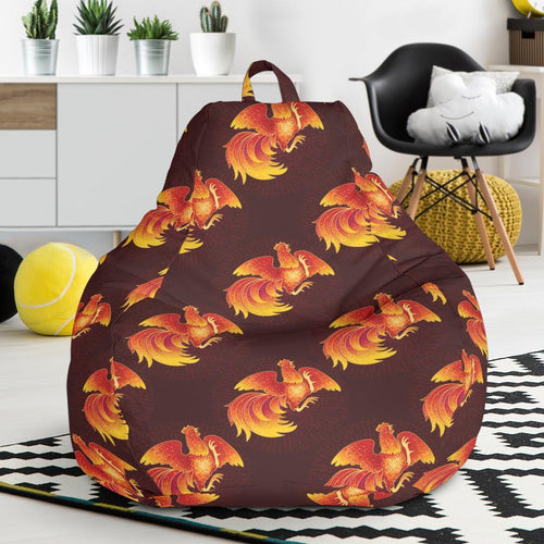 Rooster Pattern Print Design A04 Bean Bag Chair-JORJUNE.COM