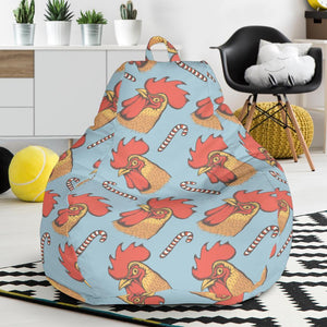 Rooster Pattern Print Design A05 Bean Bag Chair-JORJUNE.COM